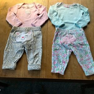 LOT 4 pieces—Two FULL Outfits long sleeve & pants